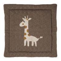 Tapis de parc tricot girafe