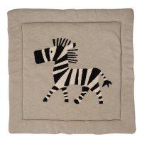 Tapis de parc tricot zebre 73 x 93 cm