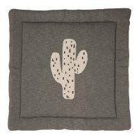 Tapis de parc tricot cactus 100 x 100 cm