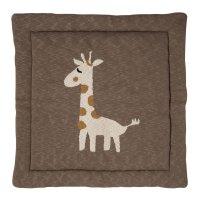 Tapis de parc tricot girafe 100 x 100 cm