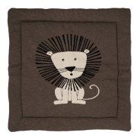 Tapis de parc tricot lion 100 x 100 cm
