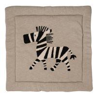 Tapis de parc tricot zèbre 100 x 100 cm