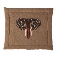 Tapis de parc tricot éléphant 100 x 100 cm