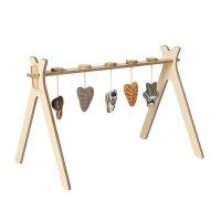 Arche d'activité tipi + 5 jouets en tricot jungle