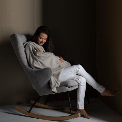 Fauteuil rocking chair de luxe sand grey Quax