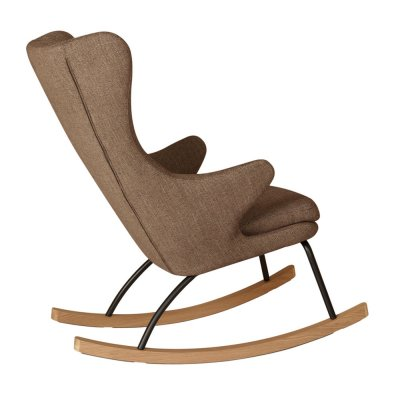 Fauteuil rocking chair de luxe latte Quax