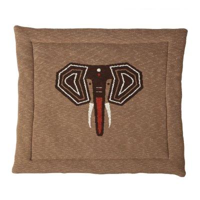 Tapis de parc tricot éléphant 100 x 100 cm Quax