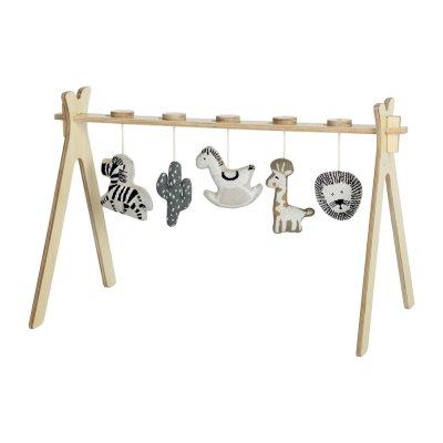 Arche d'activité tipi + 5 jouets en tricot Quax
