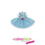 Robe princesse en bleu pour poupée little rubens
