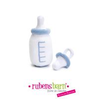 Accessoire biberon et sucette bleu pour poupée rubens baby