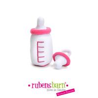 Accessoire biberon et sucette rose pour poupée rubens baby