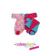 Pyjama rose pour poupée rubens baby