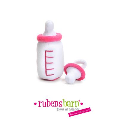 Accessoire biberon et sucette rose pour poupée rubens baby Rubens barn