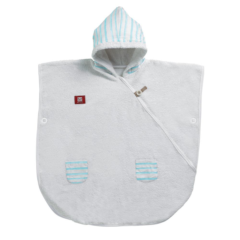 poncho de bain b b blanc bleu poudr ray marin 20 sur allob b. Black Bedroom Furniture Sets. Home Design Ideas