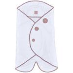 Couverture babynomade t1 fine vintage blanc neige / liberty rose pas cher