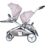 Poussette double evolutwin taupe pas cher