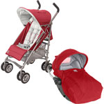 Poussette combiné duo citylink 2 rc2 rouge de Red castle