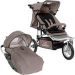 Poussette duo shop and jogg rc2 taupe / noir pas cher