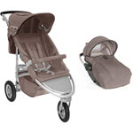 Poussette combiné duo whizz rc2 taupe de Red castle