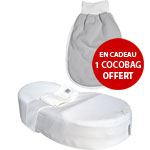 Cocoonababy avec cocobag ouatiné gris clair offert pas cher