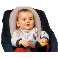 Cale tete bebe 2 en1 gris perle