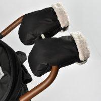 Moufles pour poussette noir