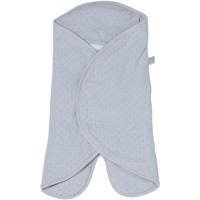 Couverture babynomade 0-6 mois pois et velours gris