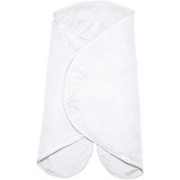 Couverture babynomade 0-6 mois fleur de coton blanc