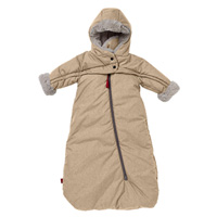 Nid d'ange combi troika t-zip tendresse 0-6 mois camel