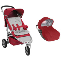 Pack poussette duo whizz rc2 rouge