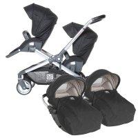 Poussette jumeaux evolutwin avec sièges auto rc2 noir