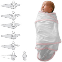 Couverture bébé miracle blanc/rose