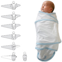 Couverture bébé miracle blanc/ciel