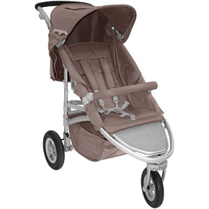 Poussette 3 roues whizz taupe