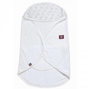 Sortie de bain babynomade 0-6 mois blanc / imprimé château