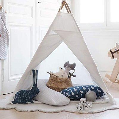 Coussin d'allaitement big flopsy fleur de coton rose dragée Red castle