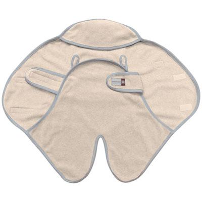 Couverture babynomade 0-6 mois simple polaire écru Red castle