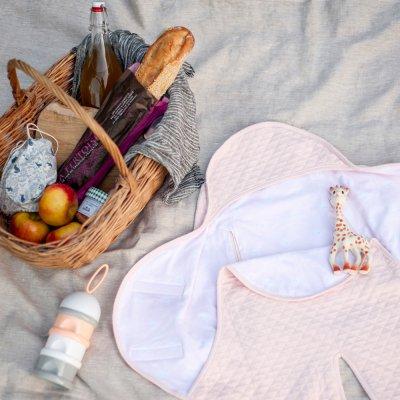 Couverture babynomade légère 0-6 mois rose dragée / miss sunday Red castle
