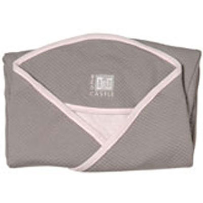 Red castle Couverture babynomade coton t2 taupe/rose