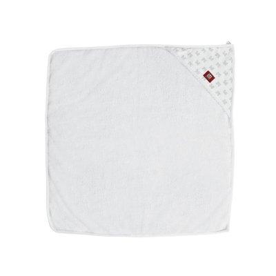 Sortie de bain bébé blanc / imprimé château Red castle