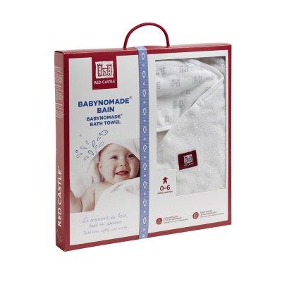 Sortie de bain babynomade 0-6 mois blanc / imprimé château Red castle