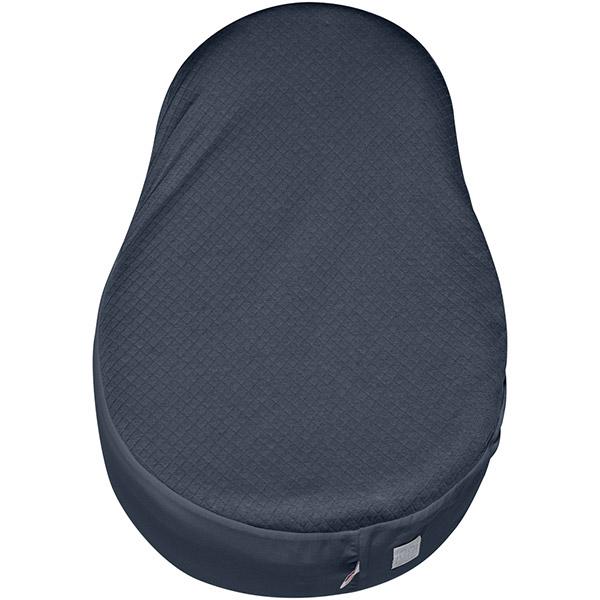 soldes drap housse b b pour cocoonababy fleur de coton bleu ink 30 sur allob b. Black Bedroom Furniture Sets. Home Design Ideas