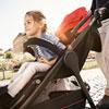 Poussette 4 roues citylife ruby châssis noir Recaro