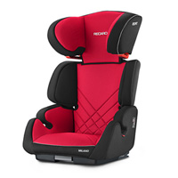 Siège auto milano seatfix racing red - groupe 2/3