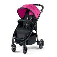 Poussette 4 roues citylife pink châssis noir