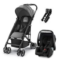 Poussette duo easylife graphite + coque privia performance black + adaptateurs