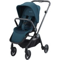 Poussette 4 roues sadena black + assise select teal green