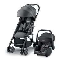 Poussette duo easylife elite graphite+coque guardia carbon black