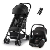 Poussette duo easylife elite black + coque guardia performance black + adaptateurs