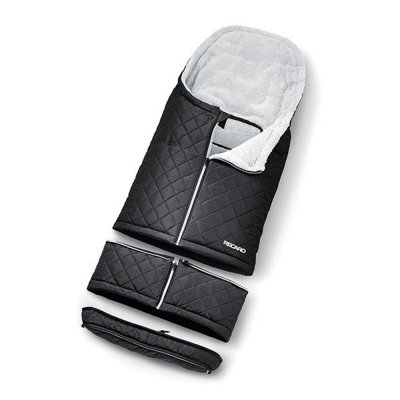 Chancelière universelle pour poussette noir et gris Recaro